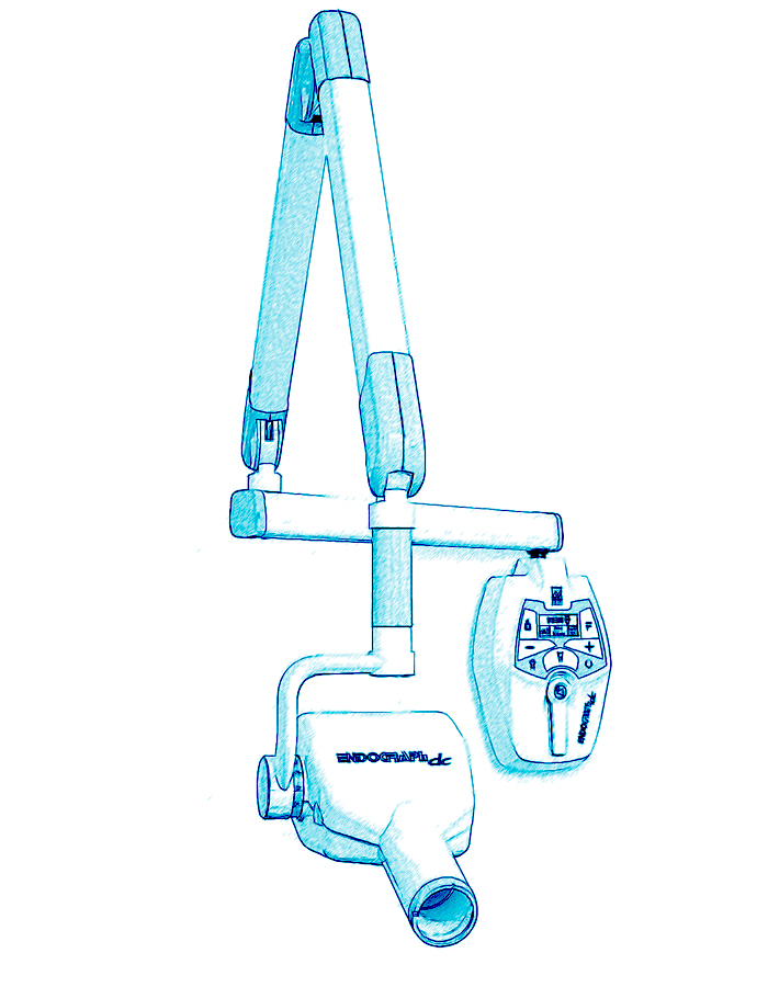 Dental intraoral x-ray repair